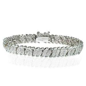 New Genuine 1.25ctw Marquise Tennis Bracelet 7.5!